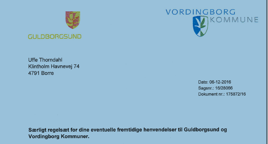 Guldborgsund og Vordingborg vedtager særligt regelsæt for Uffe Thordahl